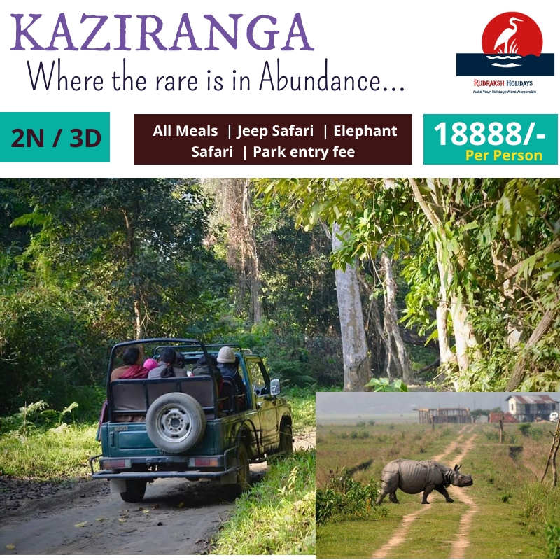 Kaziranga Tour Packages - 18888/- All